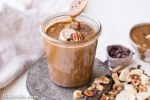 This Banana Nut Butter with Cacao Nibs is a sweet spreadable treat made with pecans and walnuts, and crunchy cacao nibs in every bite! This sugar-free nut butter is paleo, vegan, and Whole30-friendly - you'll want to spread it on everything.