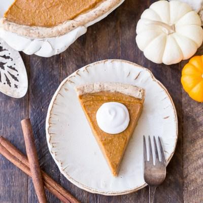 Paleo + Vegan Pumpkin Pie