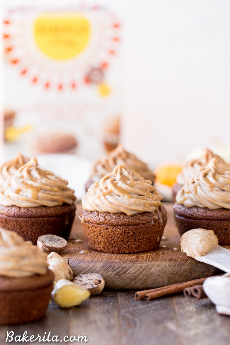 These Pumpkin Chai Cupcakes are soft, moist and bursting with warm chai spices and pumpkin flavor. They're topped with an irresistible cashew-based chai frosting that you'd never guess is paleo + vegan.