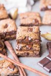 These Chocolate Chunk Gingerbread Blondies are chewy, chocolatey, and full of warm gingerbread spices. You can get the batter ready for these easy, gluten-free, paleo, and vegan blondies in about 10 minutes. They're perfect for the holidays, or any time of year when you're craving a gingerbread treat.