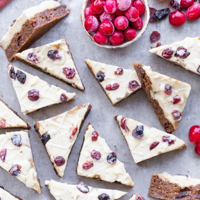 Homemade Cranberry Bliss Bars (Gluten Free, Paleo + Vegan)