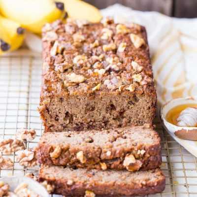 Paleo Honey Nut Banana Bread
