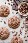 Calling all coffee lovers! These Mocha ChocolateChip Cookies are irresistibly good, with the flavor of espresso shining through and dark chocolate chunks in every bite. You wouldn't guess that they're gluten-free, paleo and vegan.