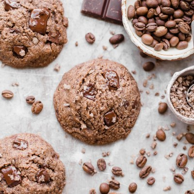 Mocha Chocolate Chip Cookies (Gluten Free, Paleo + Vegan)