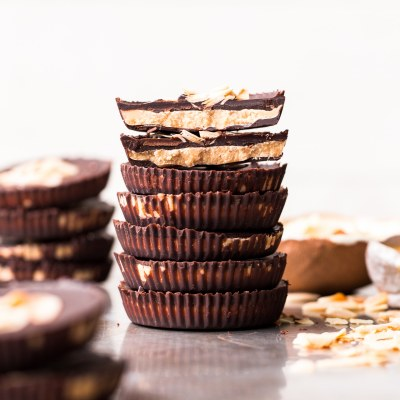 Toasted Coconut Butter Cups (Gluten Free, Paleo & Vegan)