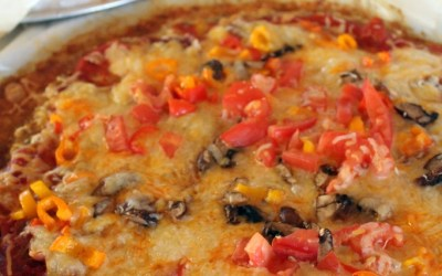 Guilt and Grain free: Paleo Chicken Crust Pizza!