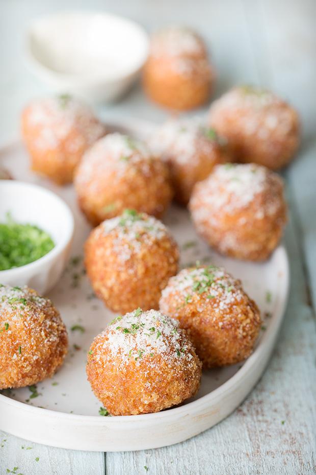 Buffalo Meatballs via Bakers Royale