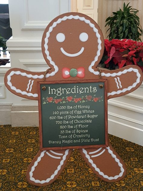 Ingredients to make the Grand Floridian Gingerbread House