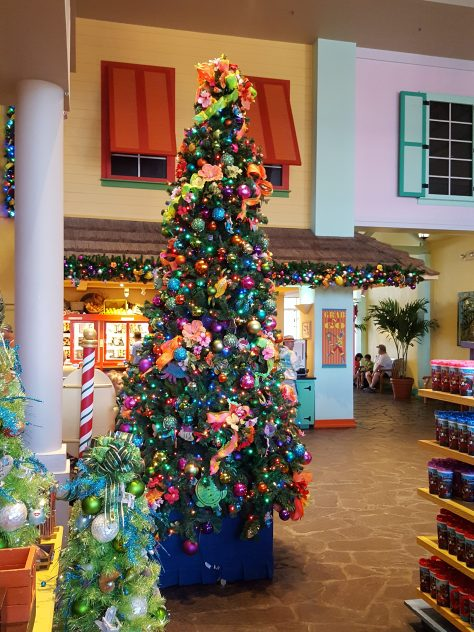 Christmas time coming inside the resort center