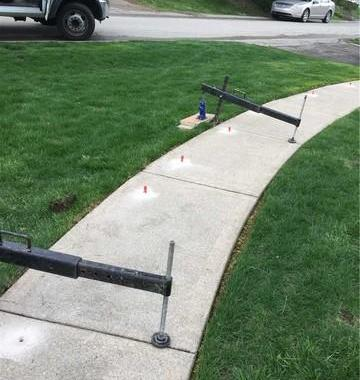 Sealed and Lifted Concrete Sidewalk in Bethel Park, PA