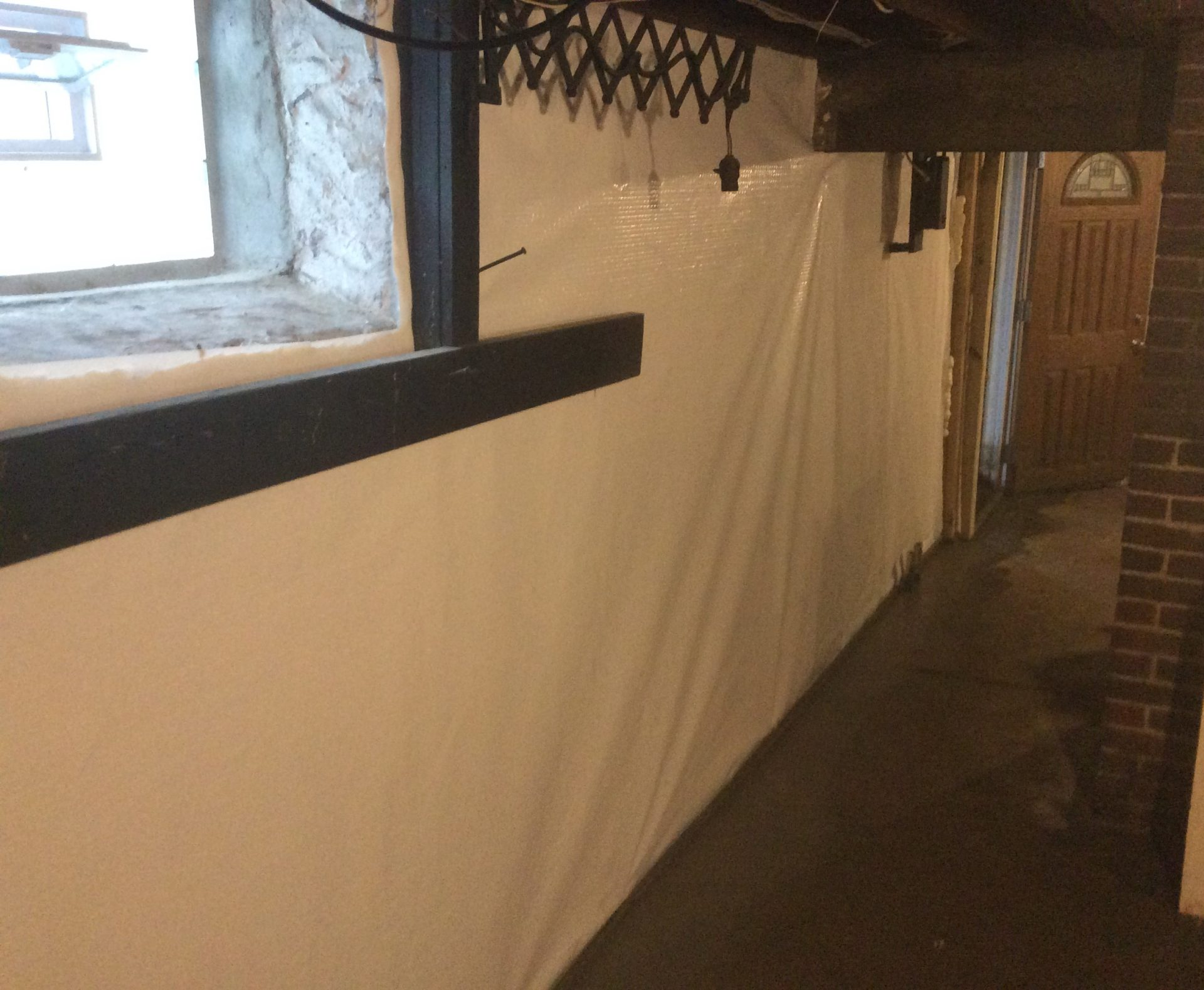 stone walls after waterproofing