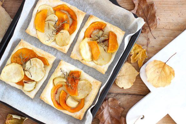 Sfoglie autunnali con patate e zucca