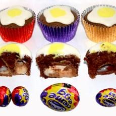 Cadbury's Creme Egg Cupcakes Recipe and Tutorial