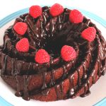 Vegan Chocolate & Raspberry Bundt Cake