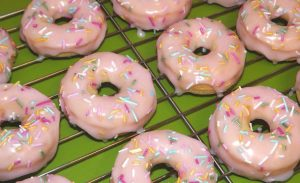Gluten Free Baked Iced Doughnuts
