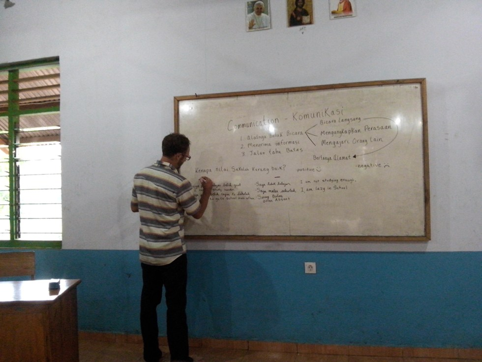 Teaching english on the Island of Sumba by Baki Clothing Company