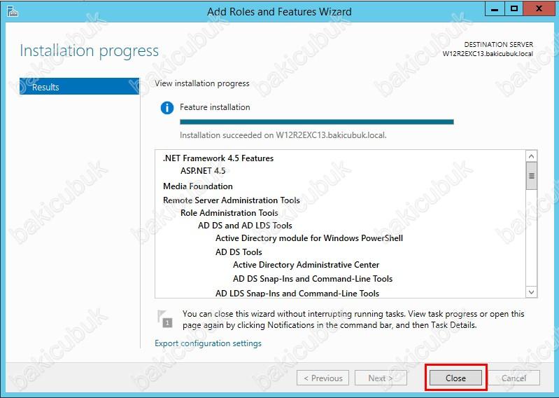 Windows Server 2012 R2 Üzerinde Exchange 2013 Kurulum Gereksinimleri