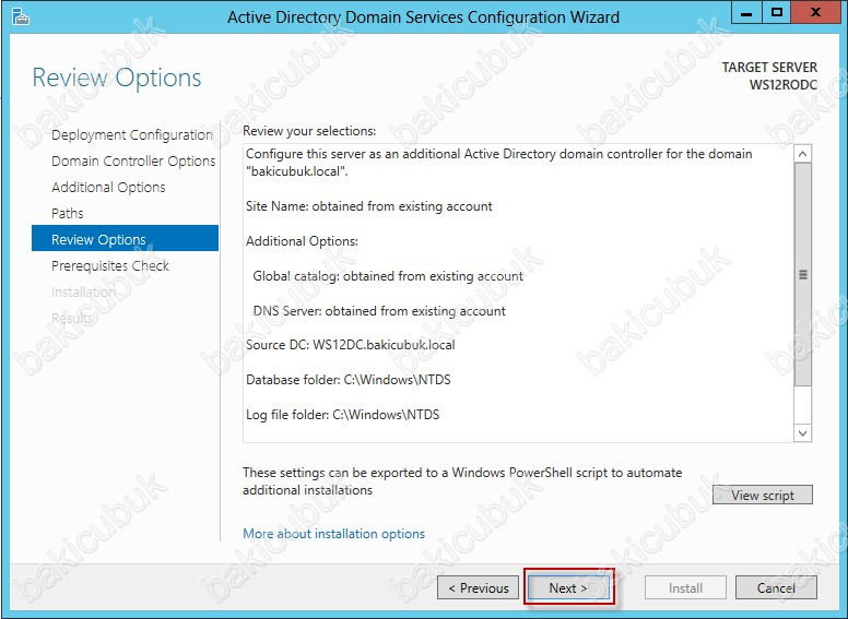 how to create rodc in windows server 2012