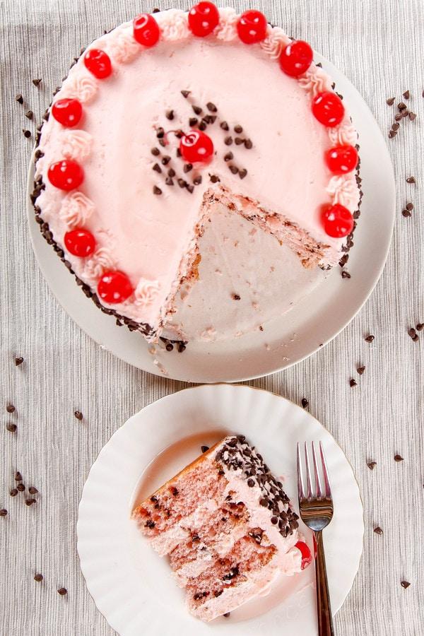 Cherry Chocolate Chip Cake Baking Beauty
