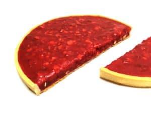Sliced Pink Praline Tart