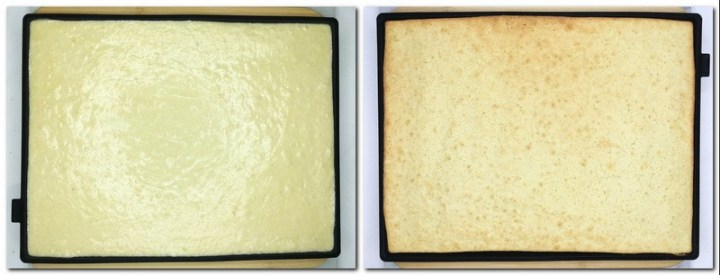 Photo 5: Biscuit dough on a baking sheet Photo 6: Baked biscuit on a baking sheet