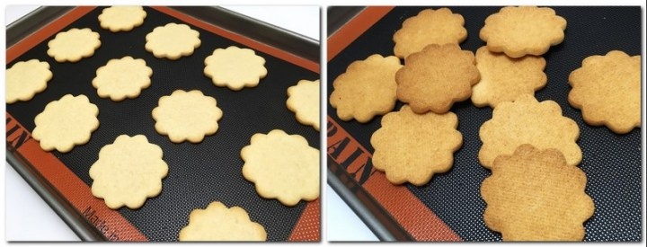 Photos 5-6: Baked cookies on a silicone baking mat