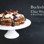 Buckwheat Chia Waffles & Raw Fudge Sauce