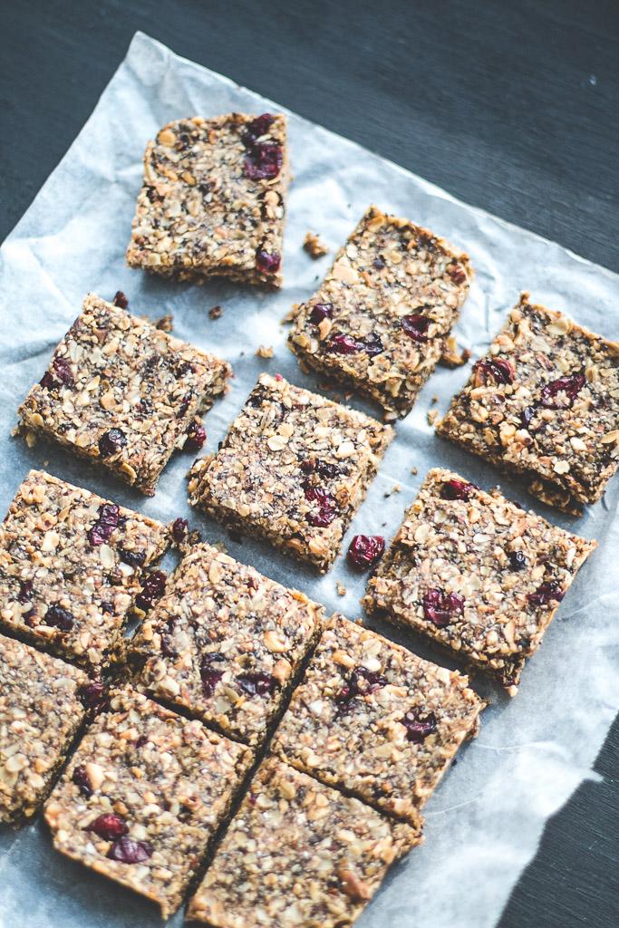 cranberry granola bars-9