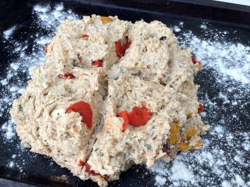 Roasted Pepper and Thyme Soda Bread - BakingQueen74