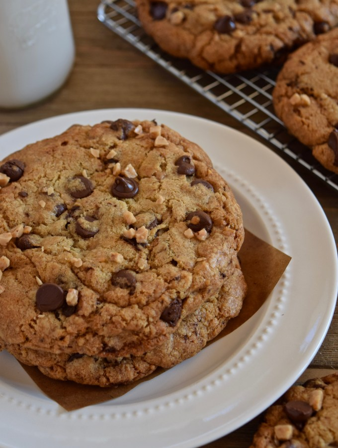 Brown Butter Toffee Chip Cookies