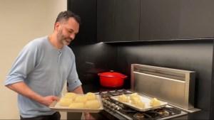 Chef Dominique in his home kitchen