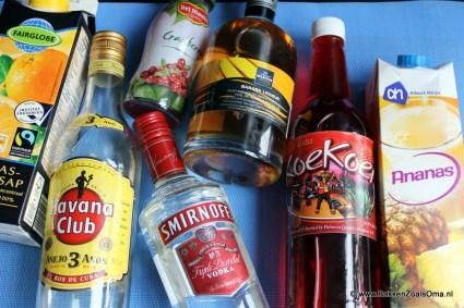 Ingrediënten Aruba Ariba, Happy hour, Cocktail Aruba Ariba, Arubaanse cocktails, Coecoei, Koekoei likeur, Arubaanse likeur