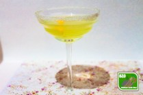 Recept Lemon Drop, glas met lemon drop