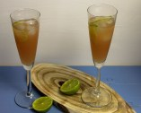 Alcoholvrije cocktail met ginger ale
