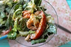 Avocado garnalen salade-7