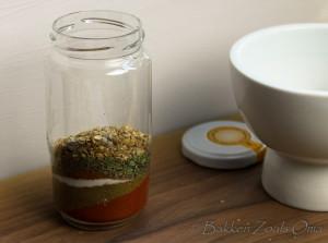 Laagjes specerijen voor de cajun spice mix