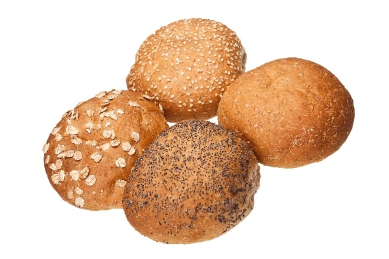 bruin broodje tarwe