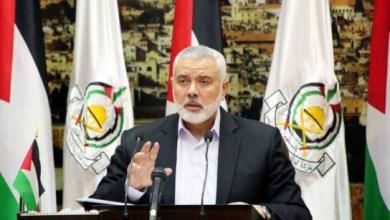 صورة هنية يطالب أعضاء حماس التزام التعليمات الصادرة عن قيادة الحركة حول اغتيال سليماني