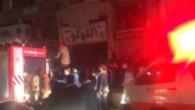 صورة السيطرة على حريق نشب داخل مجمع تجاري غرب مدينة غزة