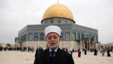 صورة مفتي القدس: لن ندعو الى تحري هلال شهر رمضان هذا العام