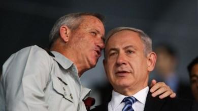 صورة نتنياهو وغانتس يهددان حزب الله ولبنان برد حاد ومؤلم
