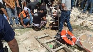 صورة الشرطة: مصرع 5 أشخاص وإصابة خطيرة بعد سقوطهم في حفرة امتصاصية في قرية دير العسل جنوب الخليل