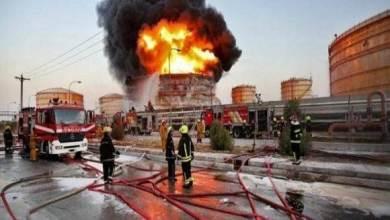"""صورة مجددا:حريق داخل مدينة """"شهرضا"""" الصناعية وسقوط جرحى وقتلى"""
