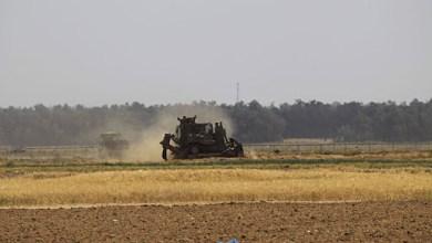 صورة توغل محدود لأليات الاحتلال شرق مخيم البريج