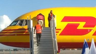 """صورة وصول أول طائرة تحمل لقاح فيروس """"كورونا"""" إلى إسرائيل"""
