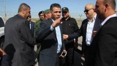 صورة وفد من جهاز المخابرات المصرية يصل قطاع غزة عبر حاجز بيت حانون