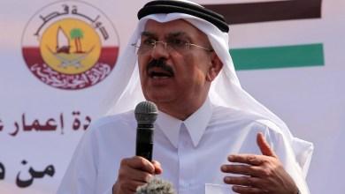 """صورة وصول السفير القطري محمد العمادي إلى قطاع غزة عبر حاجز بيت حانون """" إيرز """""""