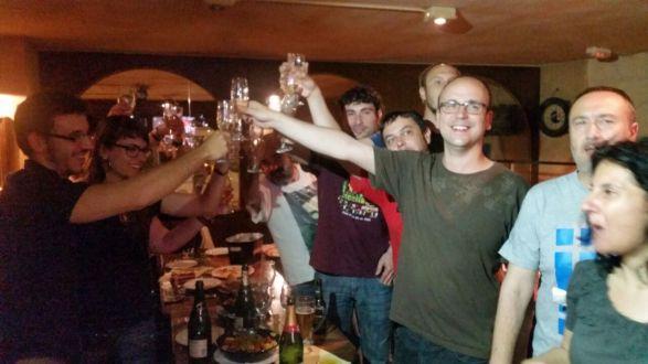 Membres de la CUP celebrant els resultats (Autor: Balaguer Televisió)