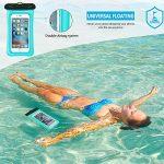 Supctup Housse Étanche Universelle,[Lot de 2] Waterproof Case Bag Etui Certifiée IPX8 Pochette Téléphone Étanche pour iPhone,Samsung,Xiaomi,Huawei Smartphones Jusqu'à 6.2 Pouces,De l'eau