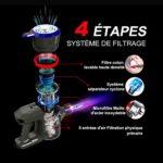 Dibea Aspirateur balais sans fil 12000pa d'aspiration puissante 4 en 1, sans sac léger, Batterie 45 min, 2 niveaux d'aspiration, Rechargeable pour Voiture Sol dur Moquette Poils, D18 Or